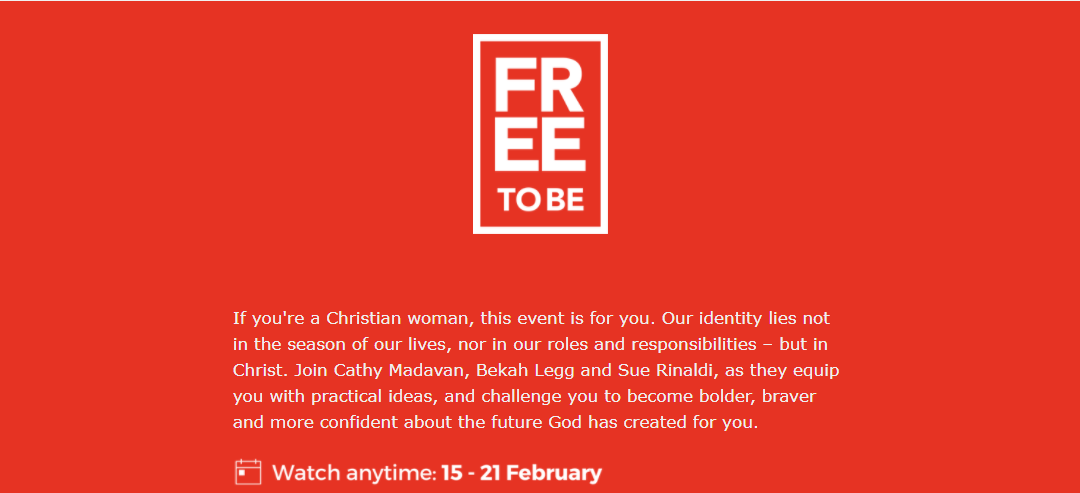 Free To Be – Woman's Event